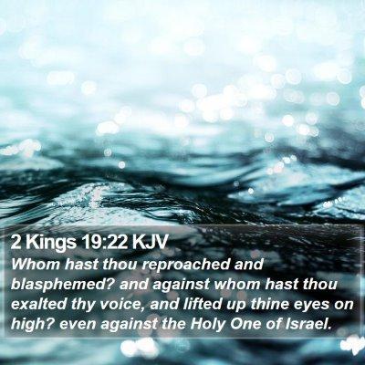 2 Kings 19:22 KJV Bible Verse Image