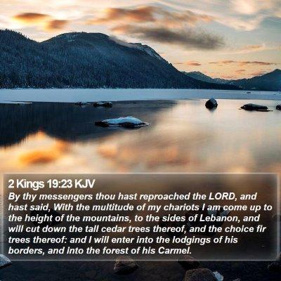 2 Kings 19:23 KJV Bible Verse Image