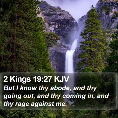 2 Kings 19:27 KJV Bible Verse Image