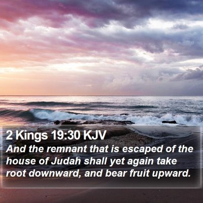 2 Kings 19:30 KJV Bible Verse Image