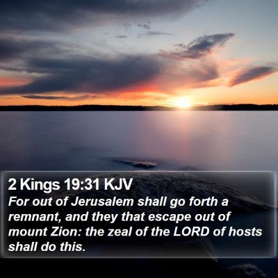 2 Kings 19:31 KJV Bible Verse Image