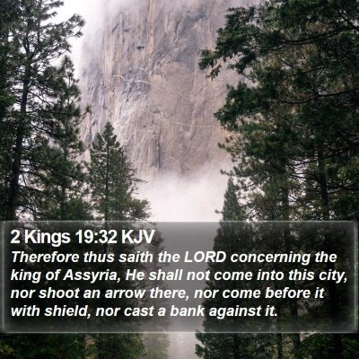 2 Kings 19:32 KJV Bible Verse Image