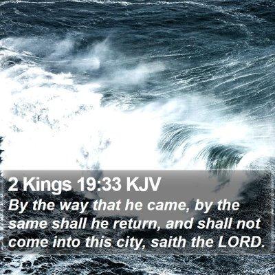 2 Kings 19:33 KJV Bible Verse Image