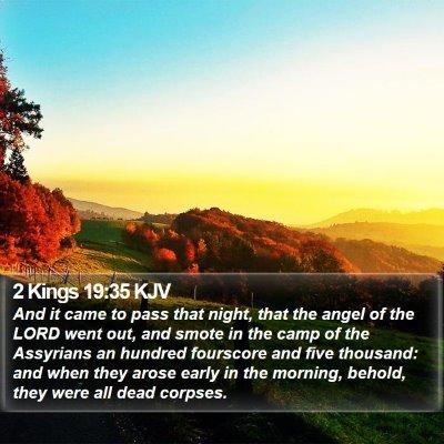 2 Kings 19:35 KJV Bible Verse Image