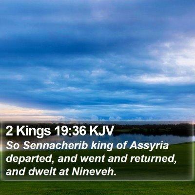 2 Kings 19:36 KJV Bible Verse Image