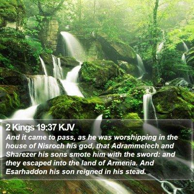 2 Kings 19:37 KJV Bible Verse Image