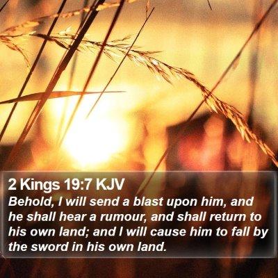 2 Kings 19:7 KJV Bible Verse Image