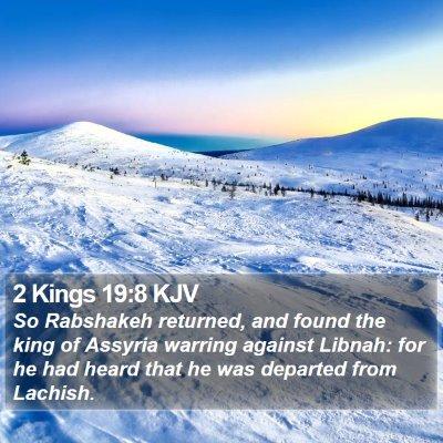 2 Kings 19:8 KJV Bible Verse Image
