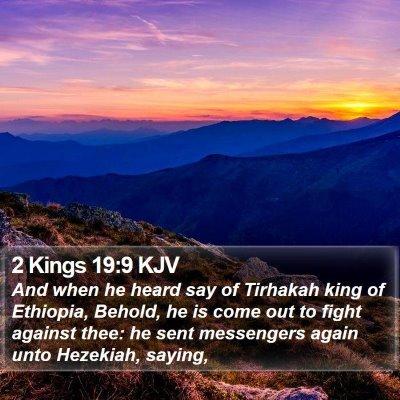 2 Kings 19:9 KJV Bible Verse Image