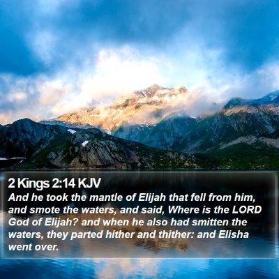 2 Kings 2:14 KJV Bible Verse Image