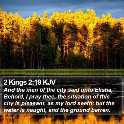 2 Kings 2:19 KJV Bible Verse Image