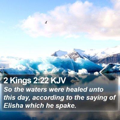 2 Kings 2:22 KJV Bible Verse Image