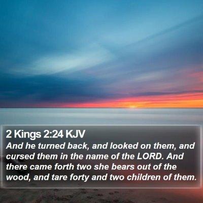 2 Kings 2:24 KJV Bible Verse Image