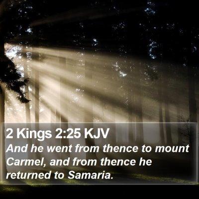 2 Kings 2:25 KJV Bible Verse Image
