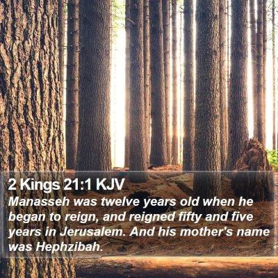 2 Kings 21:1 KJV Bible Verse Image