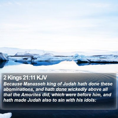 2 Kings 21:11 KJV Bible Verse Image