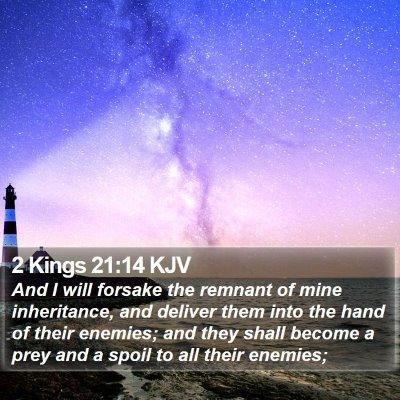 2 Kings 21:14 KJV Bible Verse Image