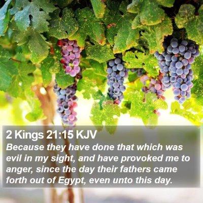 2 Kings 21:15 KJV Bible Verse Image