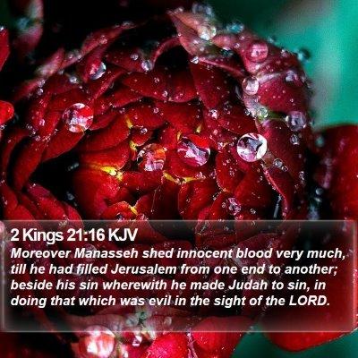 2 Kings 21:16 KJV Bible Verse Image