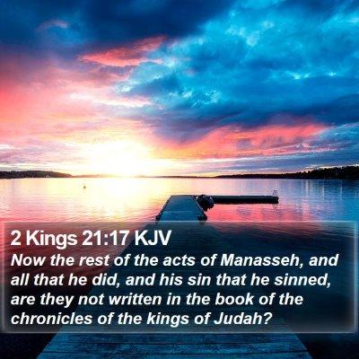 2 Kings 21:17 KJV Bible Verse Image