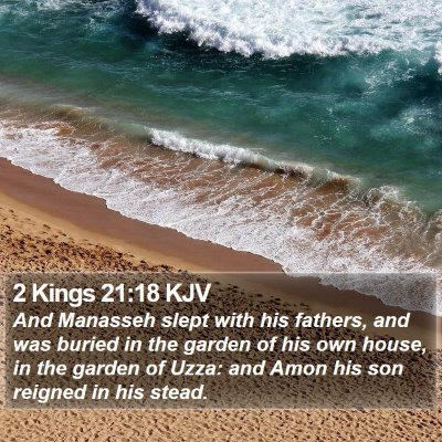 2 Kings 21:18 KJV Bible Verse Image