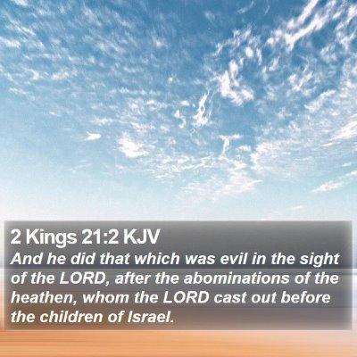 2 Kings 21:2 KJV Bible Verse Image