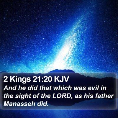 2 Kings 21:20 KJV Bible Verse Image