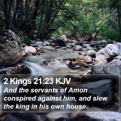 2 Kings 21:23 KJV Bible Verse Image