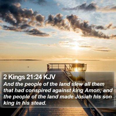 2 Kings 21:24 KJV Bible Verse Image