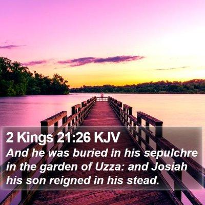 2 Kings 21:26 KJV Bible Verse Image