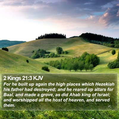 2 Kings 21:3 KJV Bible Verse Image