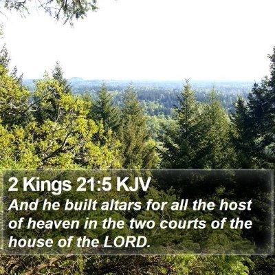 2 Kings 21:5 KJV Bible Verse Image