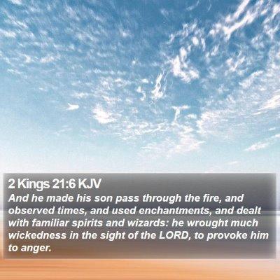 2 Kings 21:6 KJV Bible Verse Image