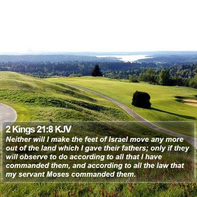 2 Kings 21:8 KJV Bible Verse Image