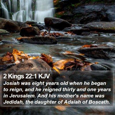 2 Kings 22:1 KJV Bible Verse Image
