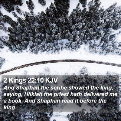 2 Kings 22:10 KJV Bible Verse Image