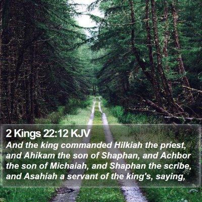 2 Kings 22:12 KJV Bible Verse Image