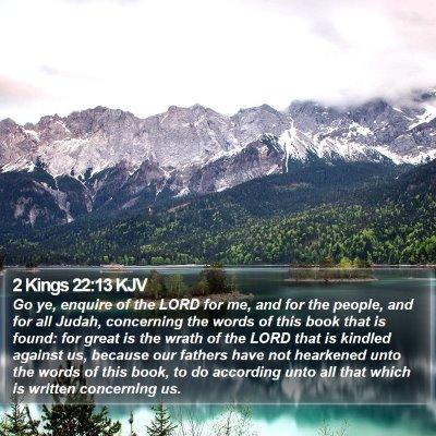 2 Kings 22:13 KJV Bible Verse Image