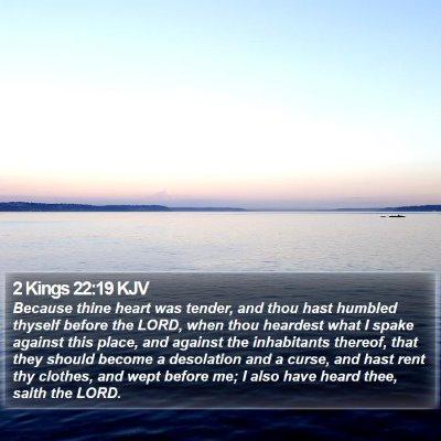 2 Kings 22:19 KJV Bible Verse Image