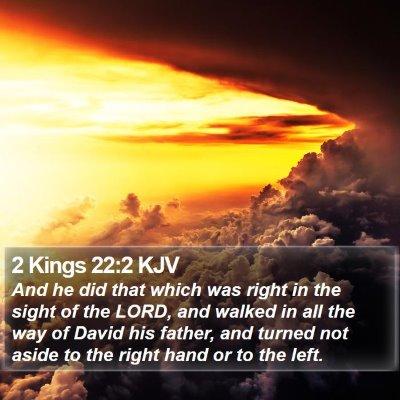2 Kings 22:2 KJV Bible Verse Image