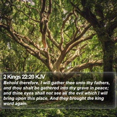 2 Kings 22:20 KJV Bible Verse Image