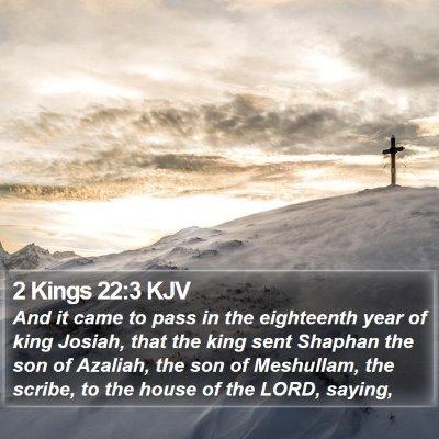 2 Kings 22:3 KJV Bible Verse Image