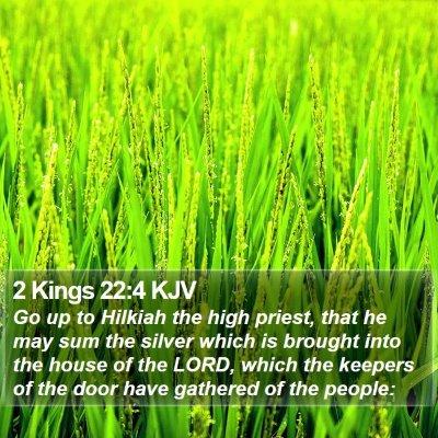 2 Kings 22:4 KJV Bible Verse Image