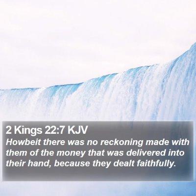 2 Kings 22:7 KJV Bible Verse Image