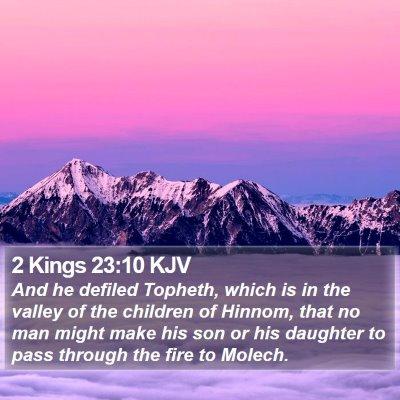 2 Kings 23:10 KJV Bible Verse Image