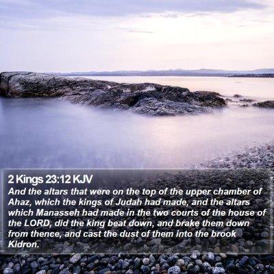 2 Kings 23:12 KJV Bible Verse Image