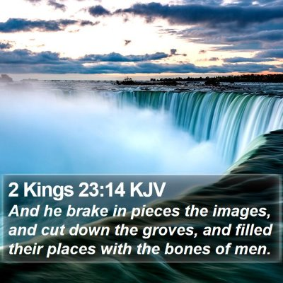 2 Kings 23:14 KJV Bible Verse Image