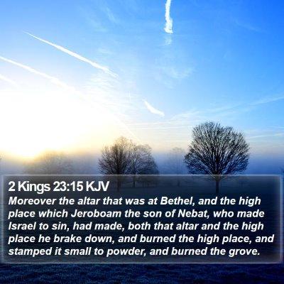 2 Kings 23:15 KJV Bible Verse Image