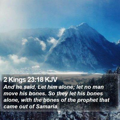 2 Kings 23:18 KJV Bible Verse Image