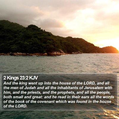 2 Kings 23:2 KJV Bible Verse Image